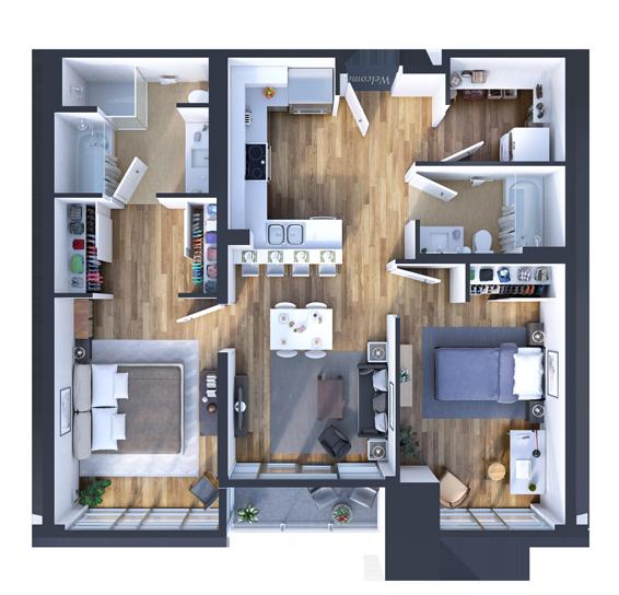 2 Bedroom Apartment Model at SOPC